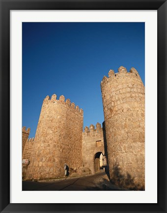 Framed Avila City Wall, Spain Print