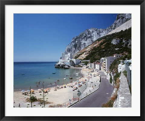 Framed Catalan Bay, Gibraltar, Spain Print