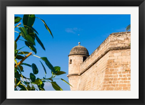 Framed City ramparts, Palma de Mallorca, Majorca, Balearic Islands, Spain Print
