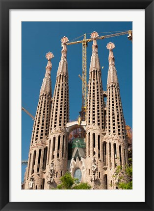 Framed La Sagrada Familia by Antoni Gaudi, Barcelona, Spain Print