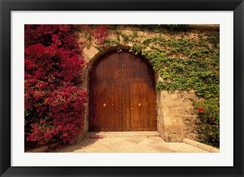 Framed Doorway at Consolat de Mar, Palma de Mallorca, Balearics, Spain Print