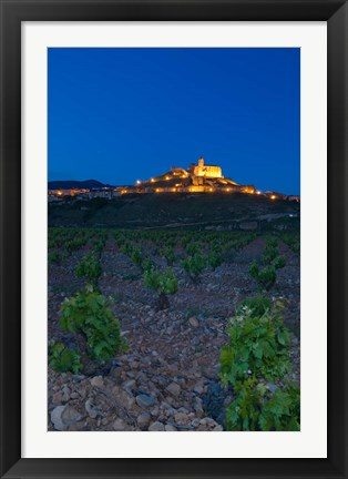Framed Church and village of San Vicente de la Sonsierra, La Rioja, Spain Print