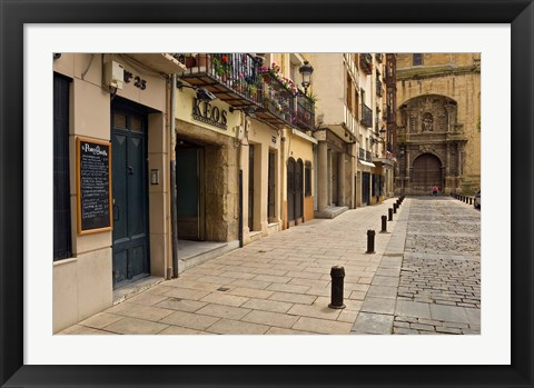 Framed Elaborate door of a cathedral, Logrono, La Rioja, Spain Print