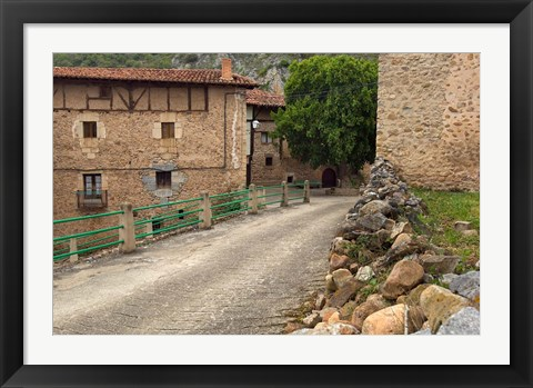 Framed Small rural village, La Rioja Region, Spain Print