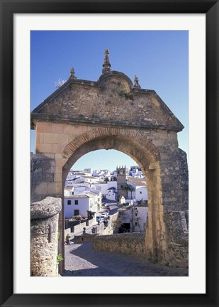 Framed Entry to Jewish Quarter, Puerta de la Exijara, Ronda, Spain Print