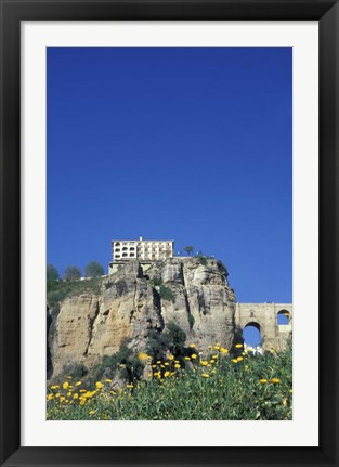 Framed Parador and Punte Nuevo, Ronda, Spain Print
