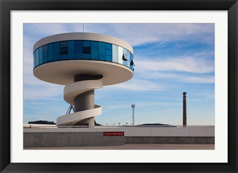 Framed Centro Niemeyer, Aviles, Spain Print