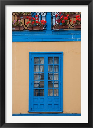 Framed Spain, Oviedo, Plaza Fontan, Building Detail Print