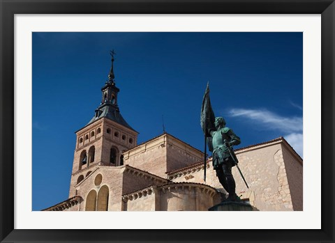 Framed Plaza San Martin and San Martin Church, Segovia, Spain Print