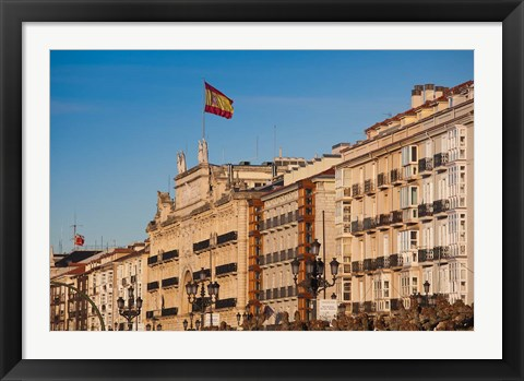 Framed Waterfront Buildings, Santander, Spain Print