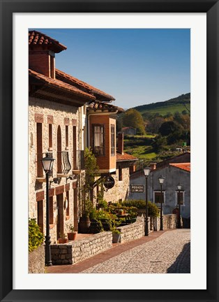 Framed Medieval Town Buildings, Santillana del Mar, Spain Print