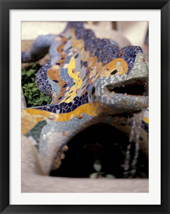 Framed Sights of Parc Guell, Barcelona, Spain Print