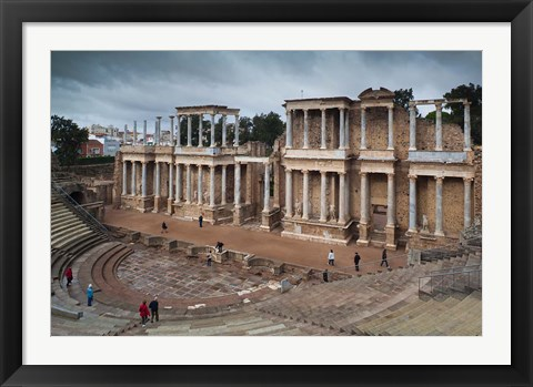 Framed Spain, Extremadura, Badajoz, Merida, Roman Theater Print