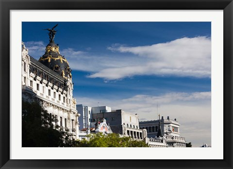 Framed Spain, Madrid, Centro Area, Metropolitan Building Print