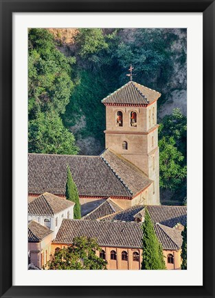 Framed Rooftops of the Albayzin district, Granada, Spain Print