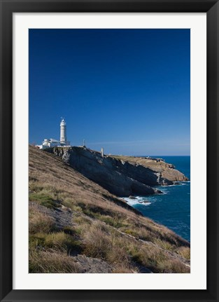 Framed Cabo Mayor Lighthouse, Santander, Spain Print