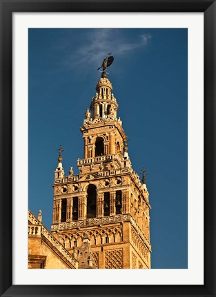 Framed Cathedral And Giralda Tower, Seville, Spain Print