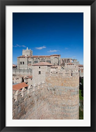 Framed Las Murallas, Avila, Spain Print