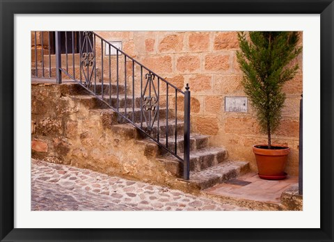 Framed Spain, Andalusia Street scene in the town of Banos de la Encina Print