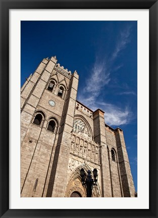 Framed Spain, Castilla y Leon Region, Avila Avila Cathedral detail Print
