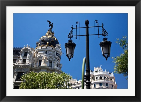 Framed Spain, Madrid Metropolis building on Grand Via Print