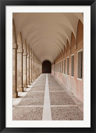 Framed Arched Walkway, The Royal Palace, Aranjuez, Spain Print