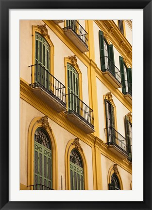 Framed Birth Place of Pablo Picasso, Malaga, Spain Print