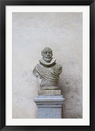 Framed Bust of Spanish King Philip III, The Alcazar, Segovia, Spain Print