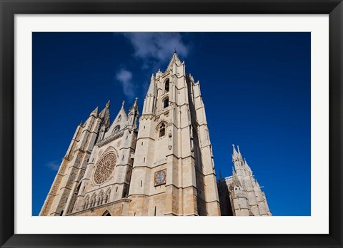 Framed Catedral de Leon, Leon, Spain Print