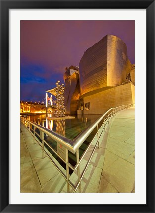 Framed Guggenheim Museum lit at night, Bilbao, Spain Print
