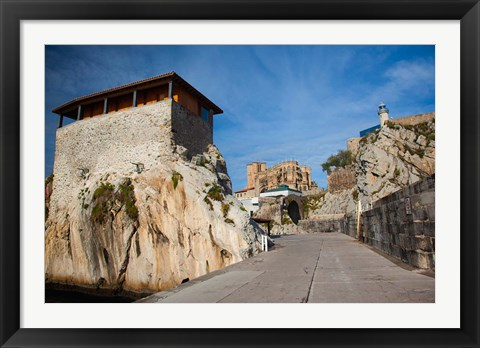 Framed Pier View, Castro-Urdiales, Spain Print