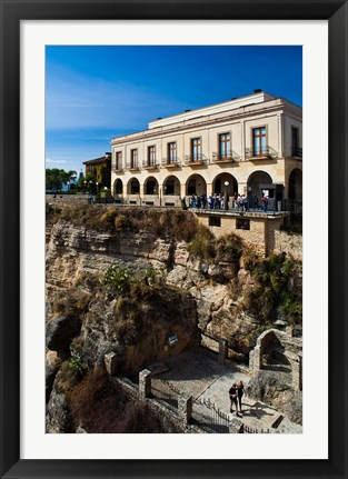 Framed Plaza de Espana, Ronda, Spain Print