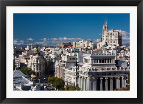 Framed Plaza de la Cibeles, Madrid, Spain Print