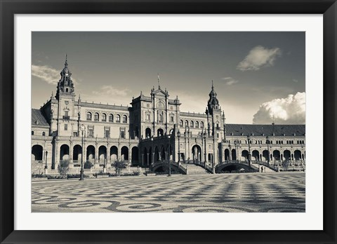 Framed Plaza Espana, Seville, Spain Print