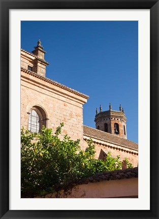 Framed Spain, Andalusia The San Mateo Church in Banos de la Encina Print