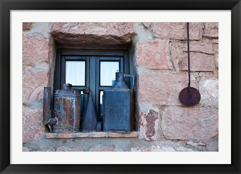 Framed Spain, Andalusia, Banos de la Encina Items and Antiques on display Print