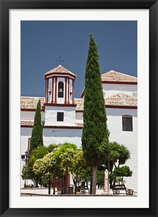 Framed Spain, Andalusia, Malaga Province, Ronda Church of Santa Cecilia Print