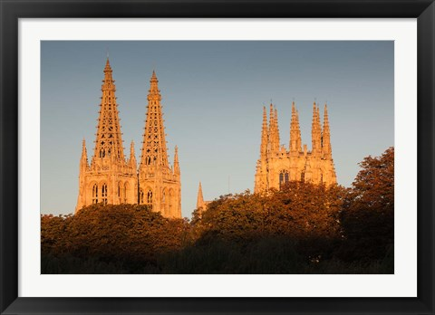 Framed Spain, Castilla y Leon, Burgos Cathedral, Dawn Print