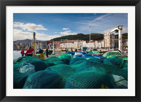 Framed Spain, Castro-Urdiales, View of Town and Harbor Print