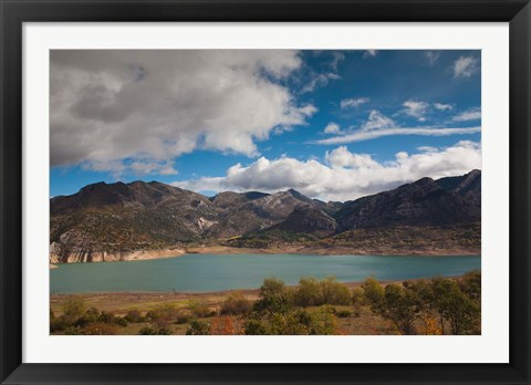 Framed Spain, Embalse de los Barrios de Luna Reservoir Print