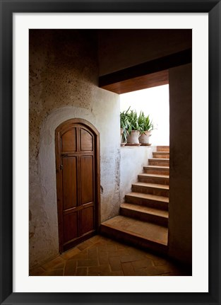 Framed Spain, Granada Alhambra, legendary Moorish Palace, interior details Print
