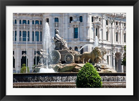 Framed Spain, Madrid Plaza de Cibeles with Fuente de Cibele Print