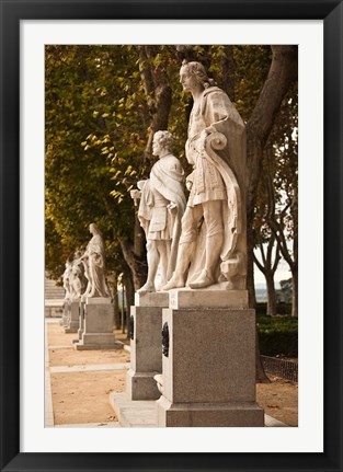 Framed Spain, Madrid, Plaza de Oriente, Statues of Kings Print