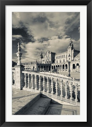 Framed Spain, Seville, buildings of the Plaza Espana Print
