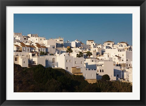 Framed Spain, Vejer de la Frontera, Elevated Town View Print