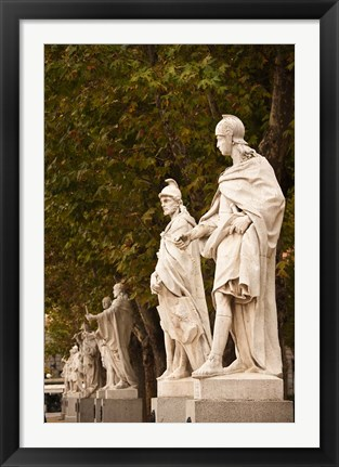 Framed Statues of Spanish Kings, Royal Palace, Madrid, Spain Print