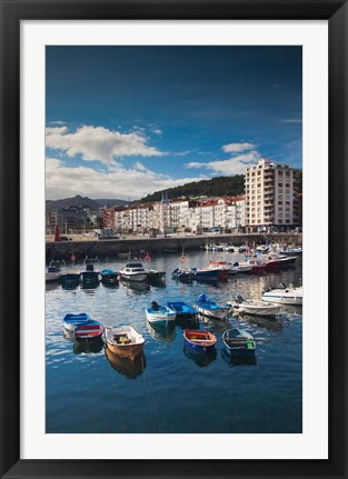 Framed Town And Harbor View, Castro-Urdiales, Spain Print