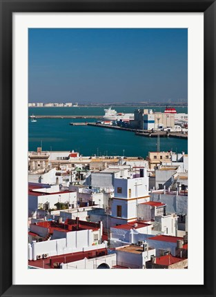 Framed View From Torre de Poniente, Cadiz, Spain Print