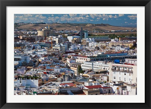 Framed View From Torre Giralda, Seville, Spain Print