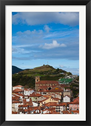 Framed View of Old Town, Laredo, Spain Print